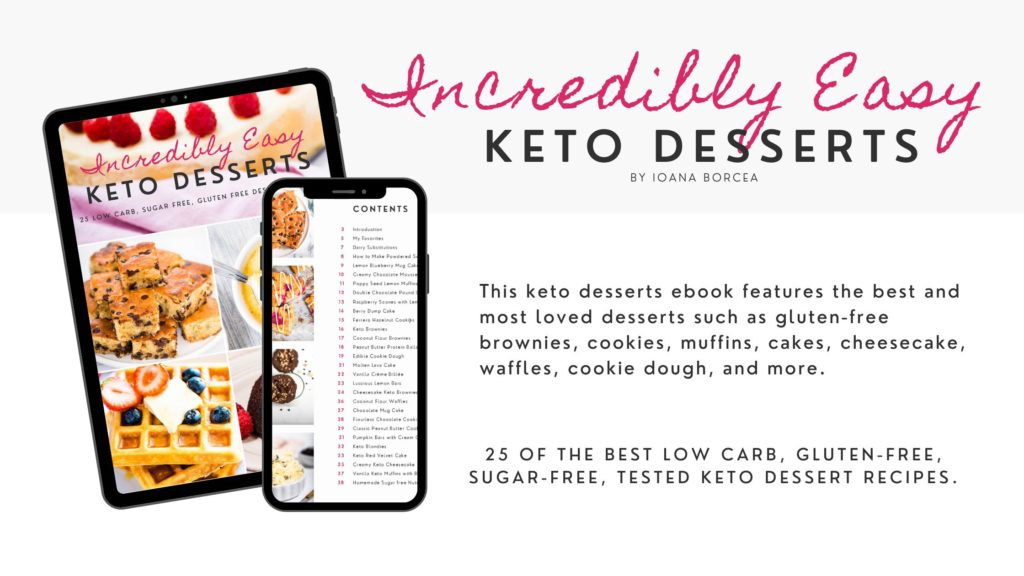 keto desserts ebook